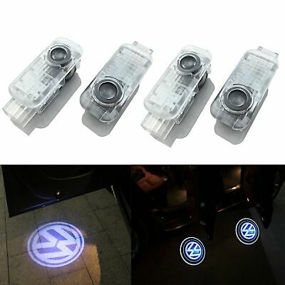 4x LED Door Logo Courtesy Puddle Projector Shadow Light Lamp For VW Volkswagen