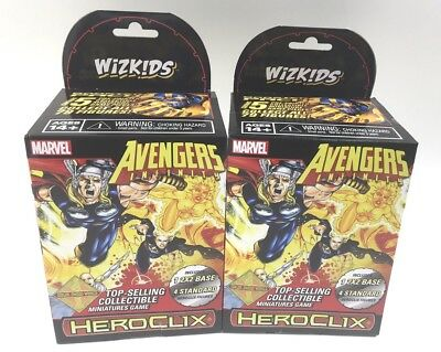 Marvel HeroClix Avengers Infinity Boosters x2