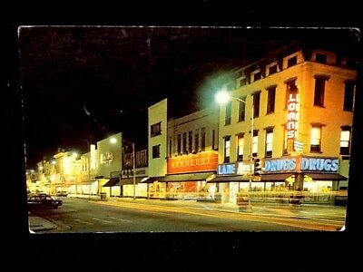Night View From 12th St. At Broadway, Columbus, Georgia Vintage Postcard