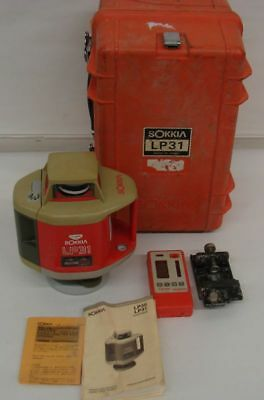 Sokkia LP31 Rotating Laser Level in case with Receiver Eye LR100