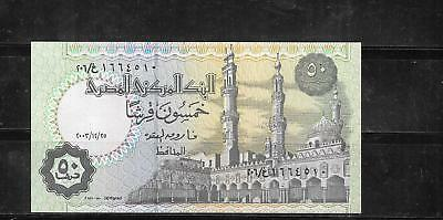 EGYPT #62g 2003 50 PIASTRES UNused BANKNOTE PAPER MONEY CURRENCY BILL NOTE
