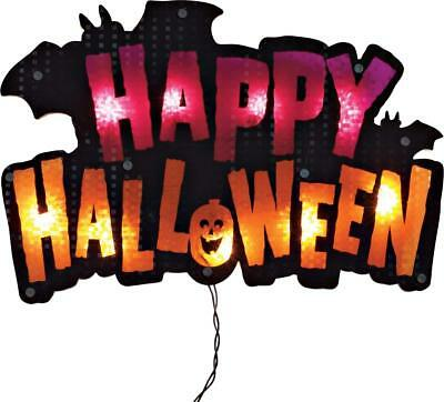 Halloween Decoration Lighted Happy Halloween Sign For Indoor and Outdoor Use