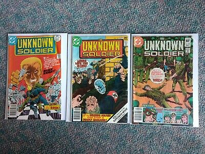 Unknown Soldier DC. Lot of 3. 1977