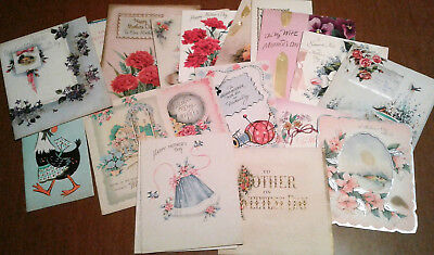 Lot 80+ Vintage Mothers Fathers Sweetest Day Greeting Cards 1940s-50s