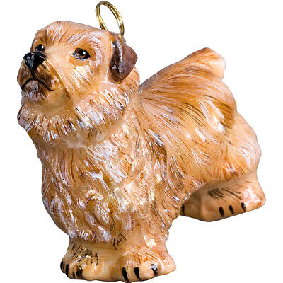 British Norfolk Terrier Polish Glass Christmas Ornament Dog Tree Decoration