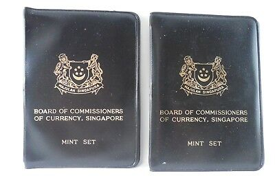 1969 - Singapore - TWO Mint Sets of Coins  - In Original Holders - #626L