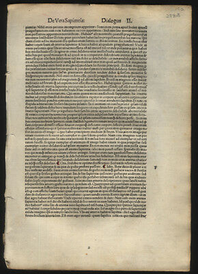 1496 Incunable Leaf from Francesco Petrarca Elizabethan Poetry & Sonnets