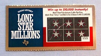 From The First Original Series Of Texas Lottery Scratch Tickets - Unscratched
