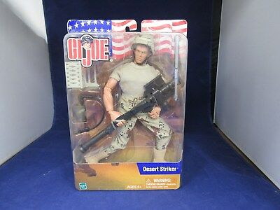 "NEW Caucasian 2002 12"" Hasbro GI JOE Desert Striker  Action Figure"