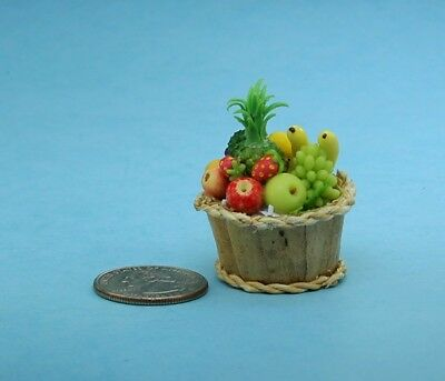Fabulous 1:12 Scale Dollhouse Miniature Filled Fruit Basket BEST QUALITY! #FBK9A