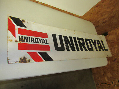 "Uniroyal Tires Metal sign.  It measures 47"" x 12.""  Dated 11-1990"