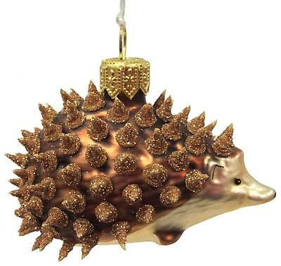 Spikey Prickly Hedgehog  Polish Glass Christmas Tree Ornament Animal Decoration