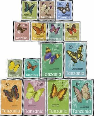Tanzania 35-49 (complete issue) unmounted mint / never hinged 1973 Butterflies