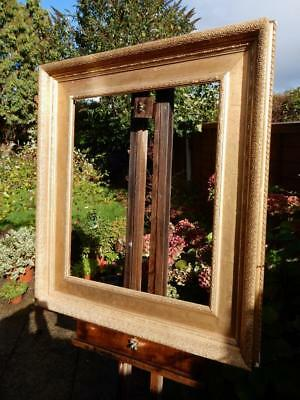 """really old picture frame LARGE gilt fits a 24 inch X  20"""""""