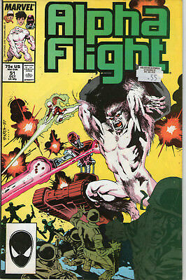 ALPHA FLIGHT # 51 - 1st JIM LEE MARVEL ART ( 1st SERIES - SCARCE 1987 )