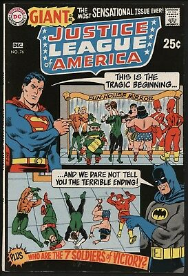 Justice League Of America #76 - Very Nice Hi-Grade 80Pg Ginat With White Pages