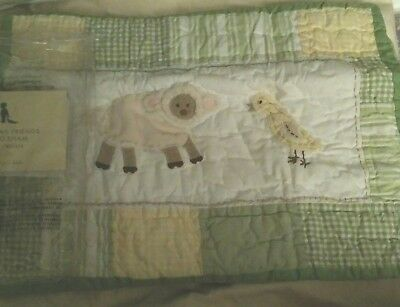 New Pottery Barn Kids Cottontail Friends Small SHAM  Lamb Chick