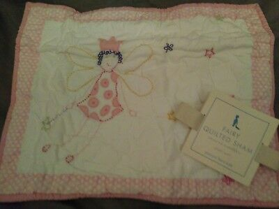 New Pottery Barn Kids Pink FAIRY Small SHAM  hard to find Decorative