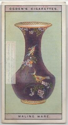 Maling And Son Ford Pottery Vase Art Ceramic China 1920s Trade Ad Card