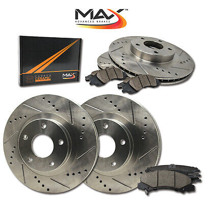 13 14 15 16 Lincoln MKZ Slotted Drilled Rotor w/Ceramic Pads F+R