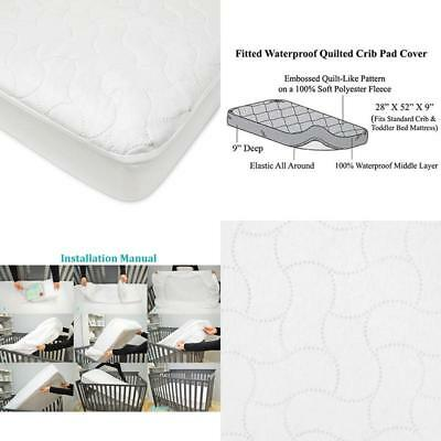 American Baby Company Waterproof Fitted Crib And Toddler Protective Mattress Pad
