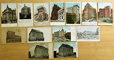 Lot of 13 Antique Postcards ALL NEW YORK CITY HOTELS All Early Undivided Back