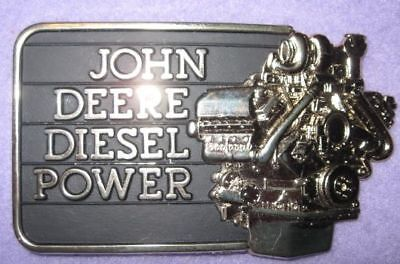 1982 Black Gold JOHN DEERE DIESEL POWER Belt Buckle Moline