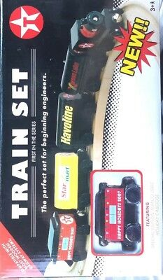 Texaco Train Set (99022P Ertl Collectibles 2007) Engine, Tankers, Caboose, Track