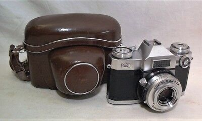 Zeiss Contaflex Super 35Mm Slr W/ Tessar 50Mm 2.8 + Field Case - Clean & Working