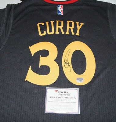 ecace8b1545 Stephen Curry Signed Autographed Chinese New Year Golden State Jersey  Fanatics