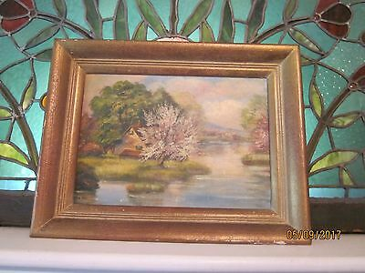 Carl Davis Landscape Oil Painting on Board, Signed by Artist