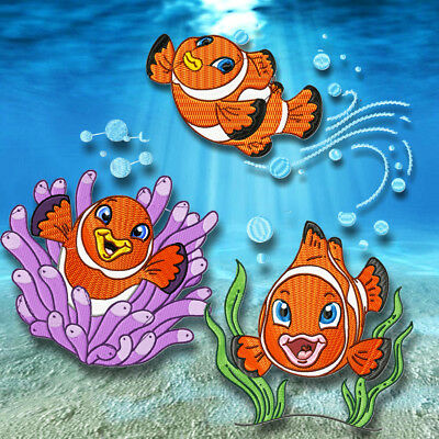 Clown Fish 10  Machine Embroidery Designs Cd 3 Sizes