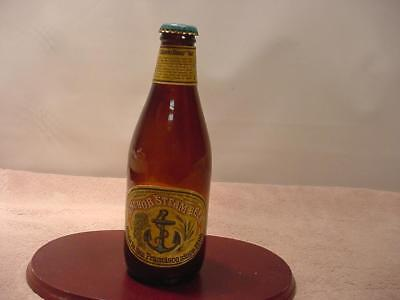 Vintage 1980's Anchor Steam Beer Bottle with Cap - 12 Oz Size - Empty