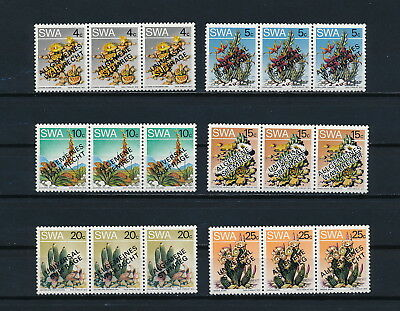 South West Africa 423-8 MNH, Flowers Overprinted, 1978