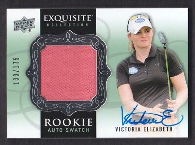 2014 Exquisite Collection Golf #62 Victoria Elizabeth Hemd Rc 133/175 Auto