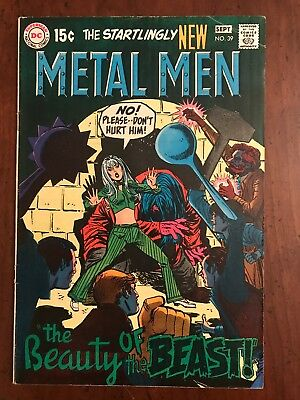 """DC Comics Metal Men #39 Silver Age 1969 """"The Beauty of the Beast"""""""