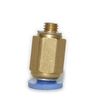 """1PCS Brass Fitting Straight 1/8""""npt To 6mm Hose Push Connect Air Ride Suspension"""