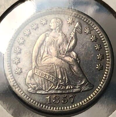 1857-O Seated Liberty Silver Half Dime. Very Nice Coin. VERY SMALL coin Mint Gra