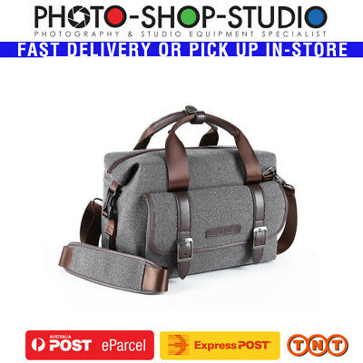 K&F Concept KF13.079 DSLR Camera Messenger Shoulder Bag (Medium , Grey)