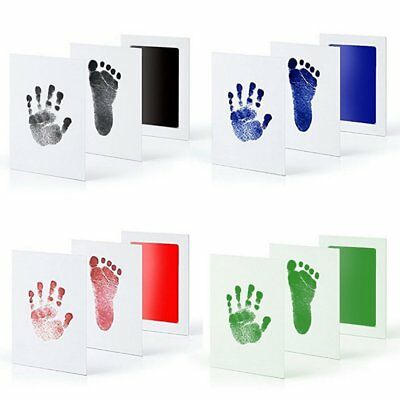 Newborn Baby Handprint Footprint Safe Clean Nontoxic Clean Touch Ink Pad Photo