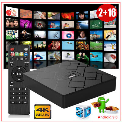 RK3229 2+16G Android 9.0 Pie Quad Core Smart TV BOX 2.4G WIFI 4K 3D Media Player