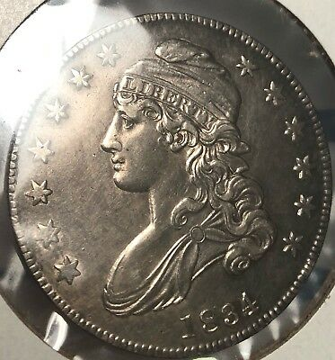 1834 Capped Bust Silver Half Dollar Possibly Uncirculated. Lots of Detail availa