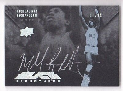 2012-13 Exquisito UD Negro Firmas # B-Mr Michael Ray Richardson 01/99 Auto