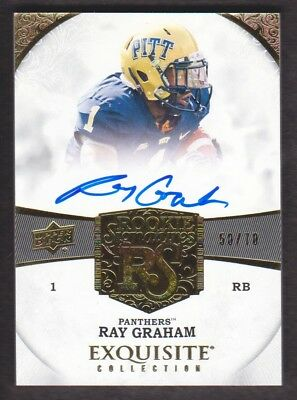 2013 Exquisite Collection Fußball #87 Ray Graham Rc Auto 50/70 Pittsburgh