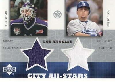 2002-03 UD Superstars Stadt All-Stars Doppelt Trikot # Fppl Felix Potvin / Paul