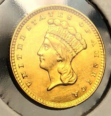 1856 Gold Dollar $1 Liberty Uncirculated MS Coin. Collectible United States COIN