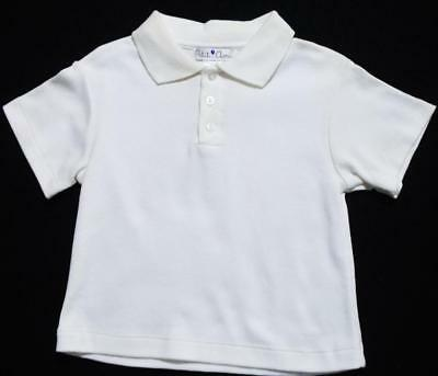 Petit Ami 24M Boys White Cotton Short Sleeve Collared Polo Shirt~New~As Is
