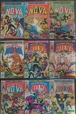 Nova (The Man Called) lot of 9 Comic Books Bronze Age First Series key comics!