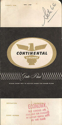 Continental Airlines ticket jacket wallet 3/64 [2112]