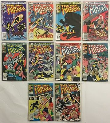 The New Mutants #s 1 2 3 4 5 6 7 8 9 10 Run Lot 1983 New Movie Soon VF+ to NM-